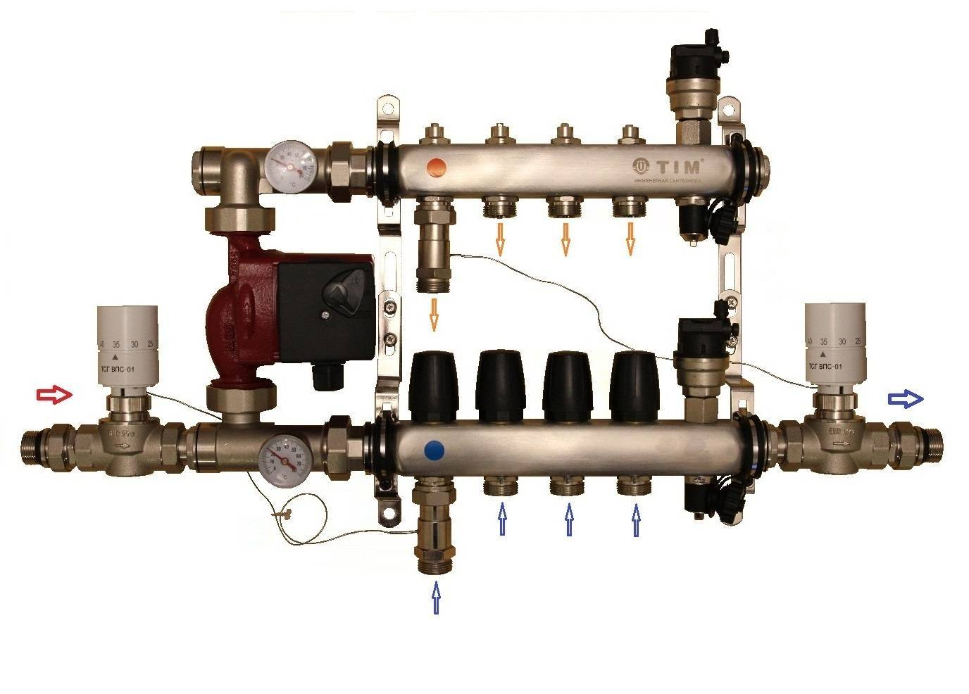 Валтек теплый пол схема подключения – технология монтажа водяного теплого пола