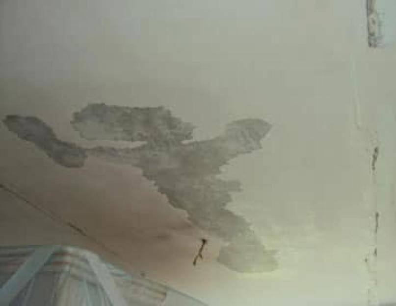Делаем ремонт потолка после протечки