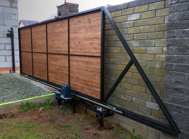 Как сделать откатные ворота — подробное описание как построить самодельные откатные ворота (95 фото и видео)