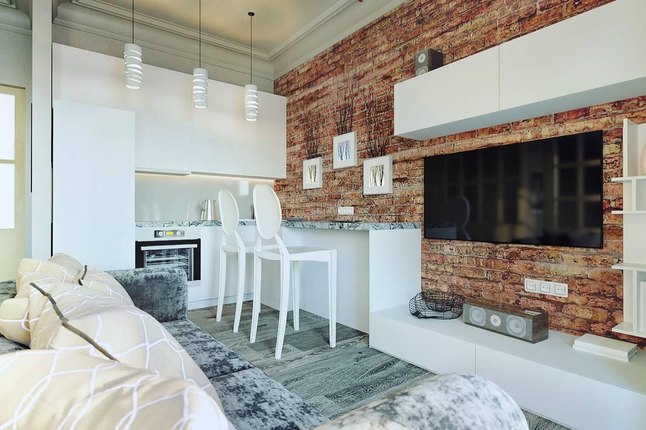 Интерьер гостиной в стиле лофт | 20 идей дизайна и оформления комнаты