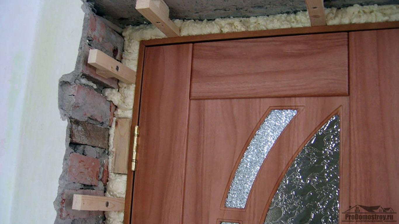 Самостоятельная отделка откосов входной двери