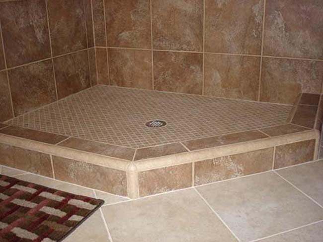 Душевая кабина без поддона своими руками в квартире (69 фото): вариант из плитки со сливом в полу, стеклянные модели