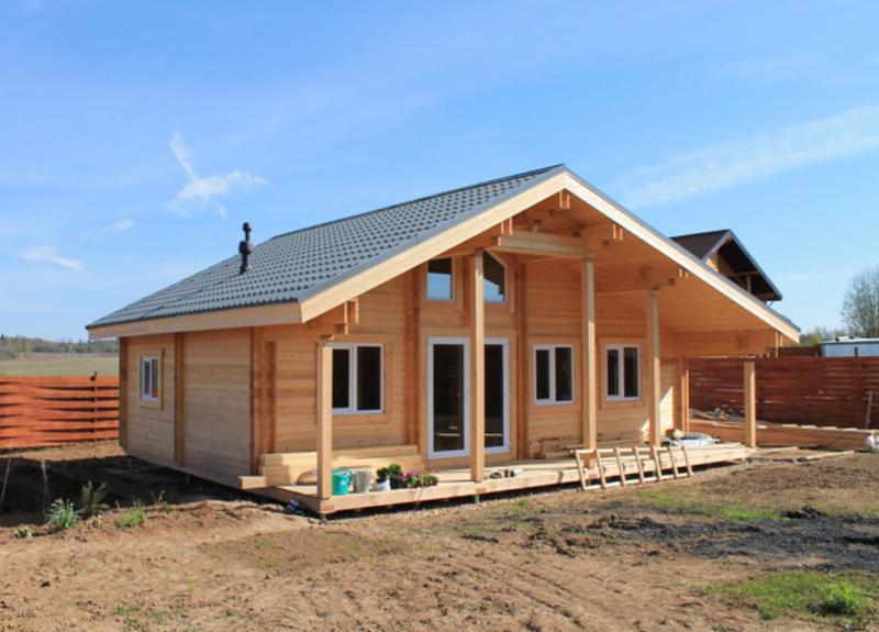 Двойной брус по финской технологии теплый дом