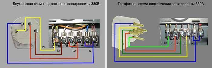 Как подключить варочную панель к двум фазам? - электрик