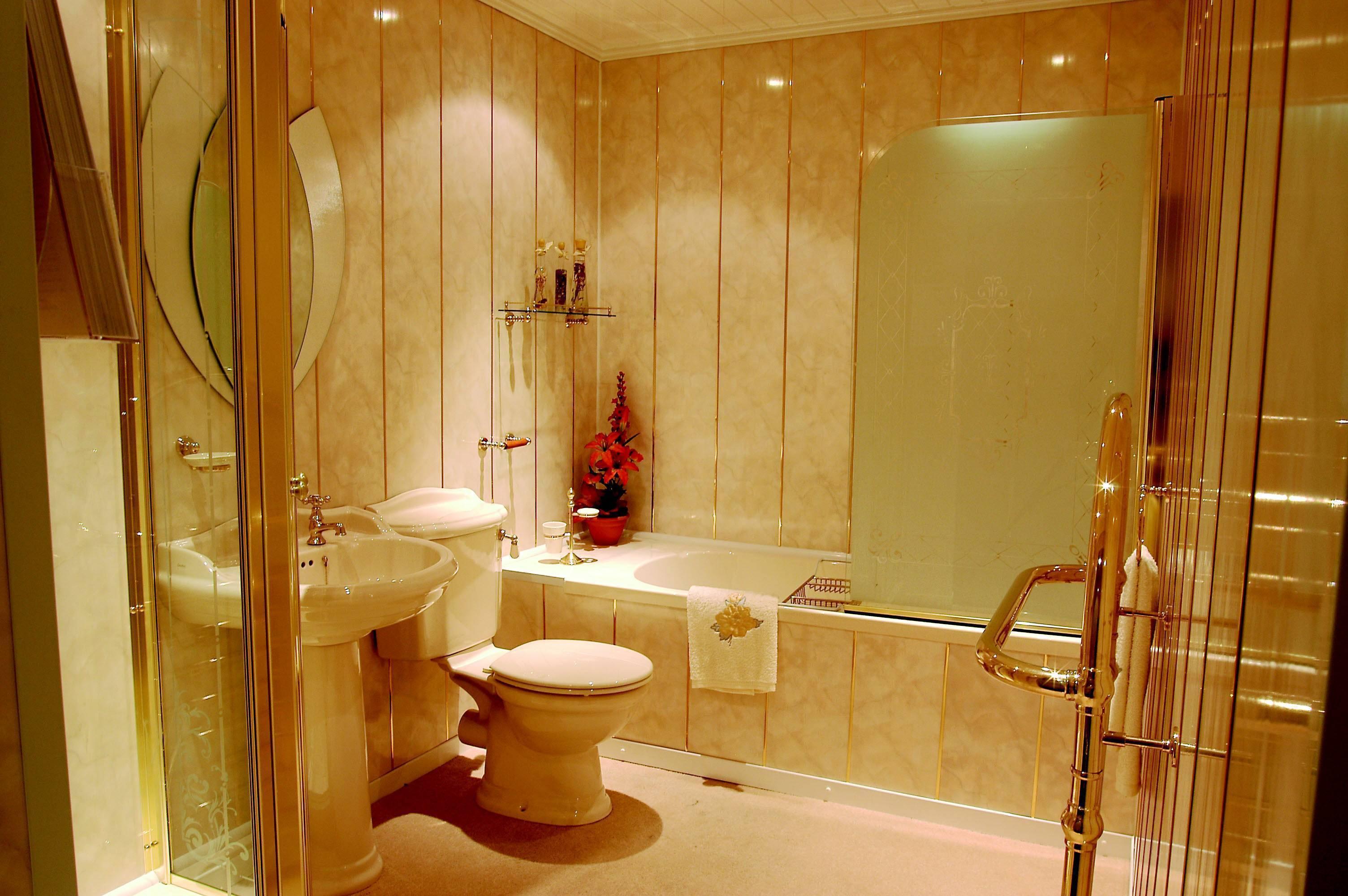 22 материала для отделки ванной комнаты: стены, пол и потолок