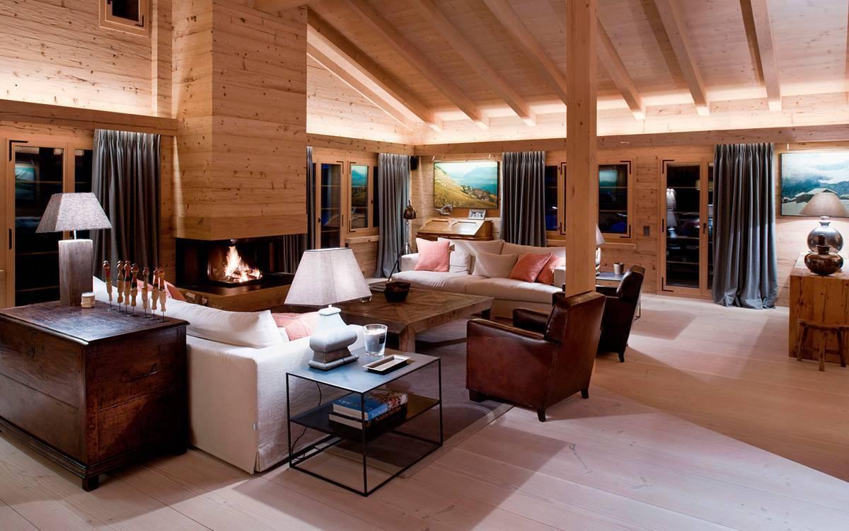 Интерьер деревянного дома из бруса внутри — фото и описание стилевых решений