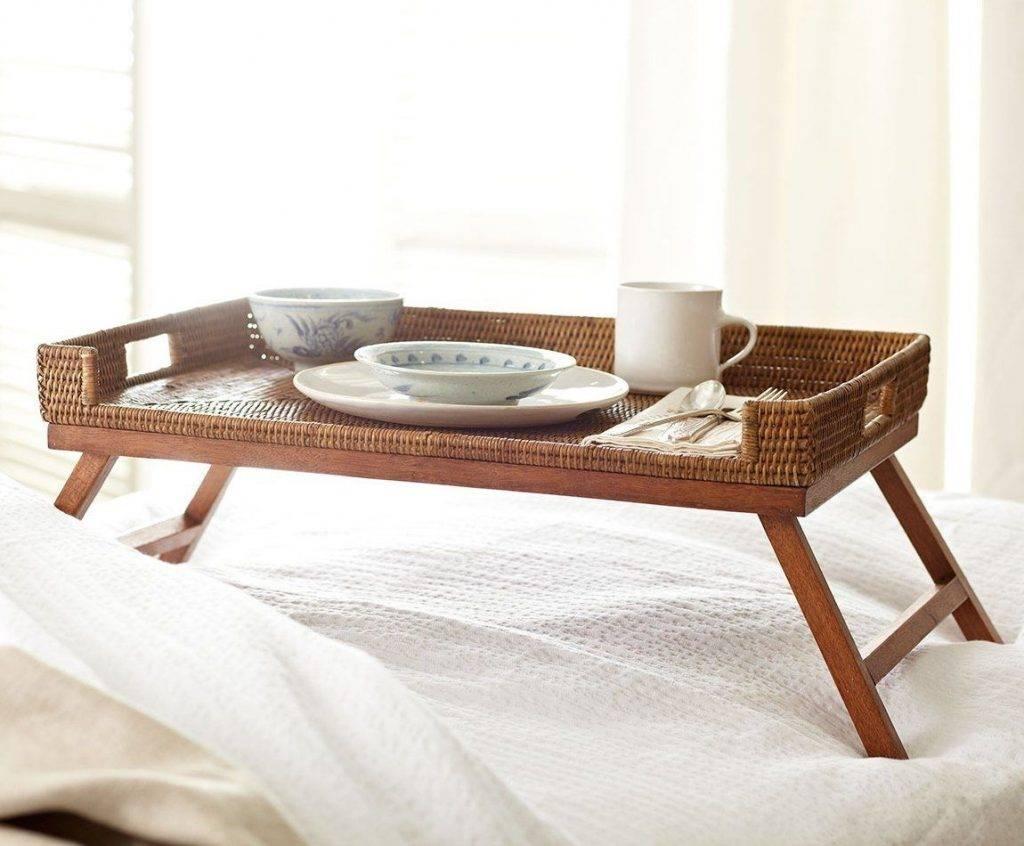 Столик для завтрака в постель (90 фото): виды и модели, каталог, как выбрать