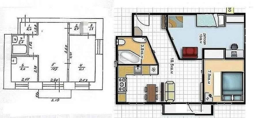 Идеи и варианты для перепланировки квартиры
