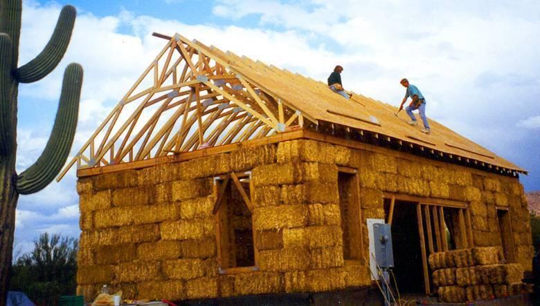 Дом из прессованной соломы. как построить дом из соломы