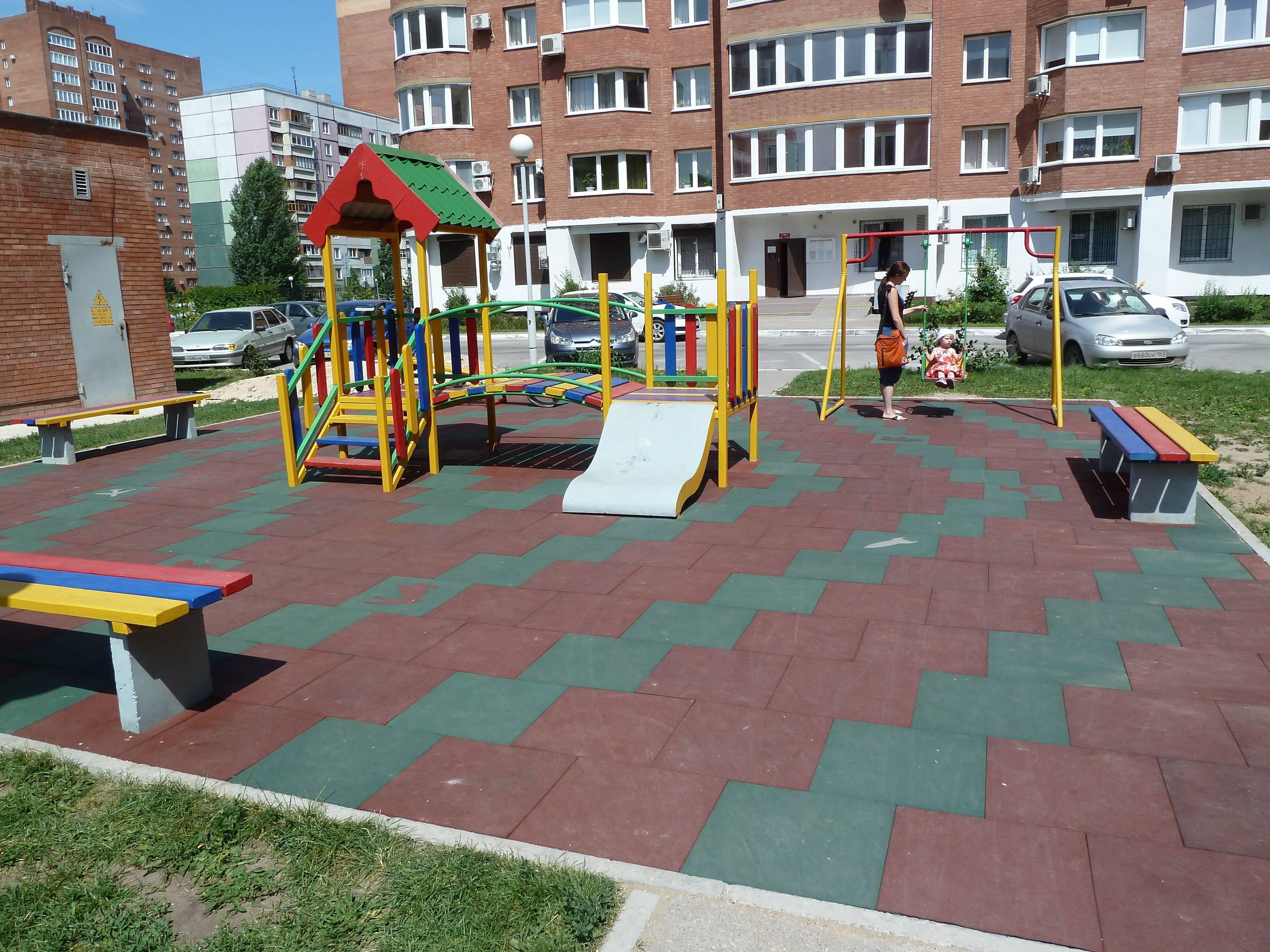 Покрытие для детских площадок из резиновой крошки ✅цены 2019