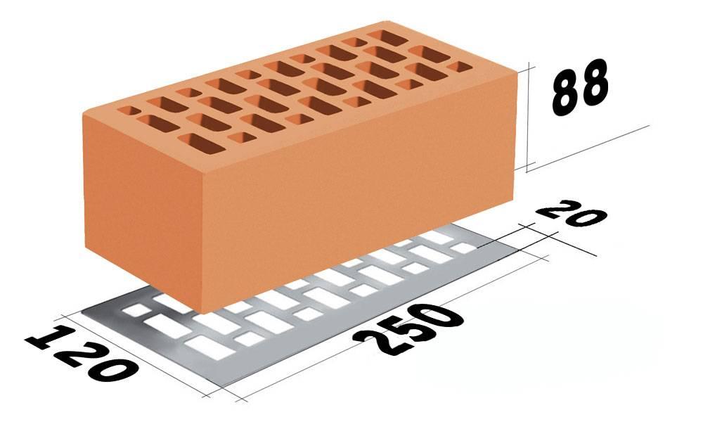 Размер облицовочного кирпича, стандарт одинарного и полуторного кирпича