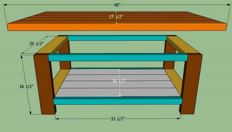 Стол для дачи своими руками: инструкции, схемы с фото