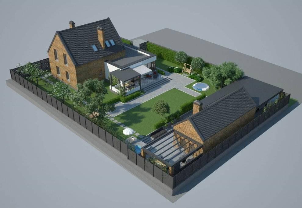 Планировка участка загородного дома – факторы, влияющие на зонирование территории, расположение основных и хозяйственных построек, нормативы и правила
