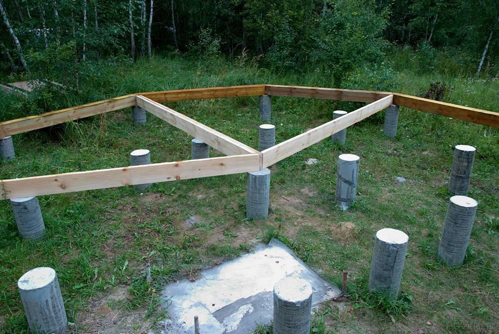 Расчет и строительство столбчатого фундамента для каркасного дома