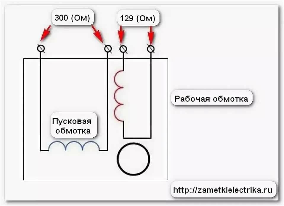 Схема подключения однофазного двигателя