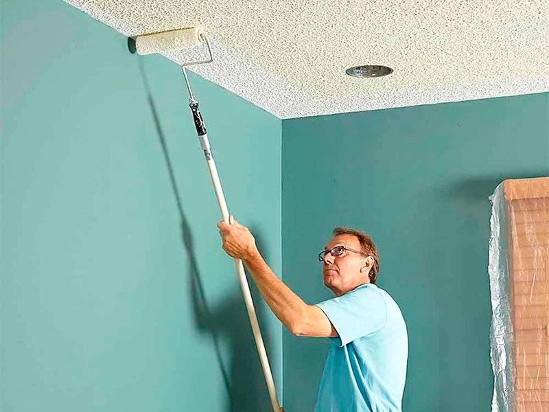 Побелка потолка: чем и как белить потолок, пошаговая инструкция