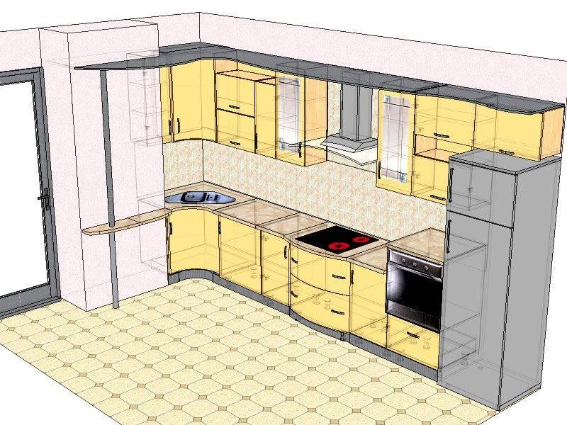 Проект кухни с размерами: как организовать кухонное пространство
