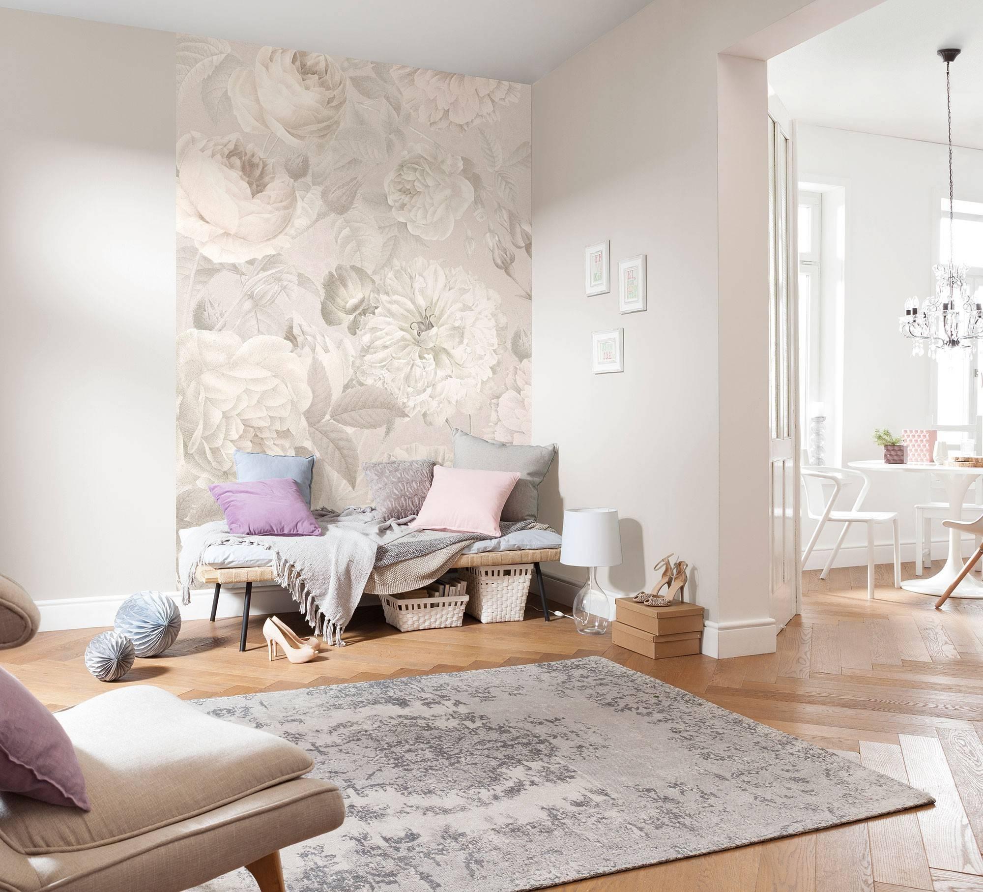 75 модных примеров сочетание обоев в интерьере гостиной