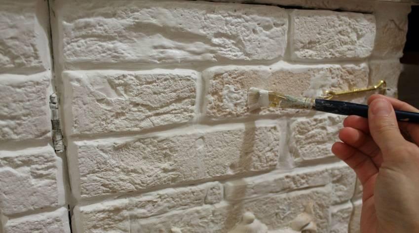 Чем покрыть декоративный кирпич в квартире. как окрасить гипсовый камень