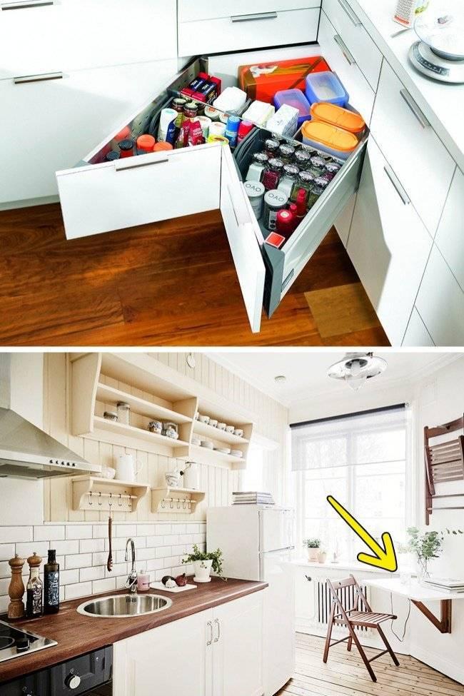 Дизайн маленькой кухни - 40 фото реальных интерьеров