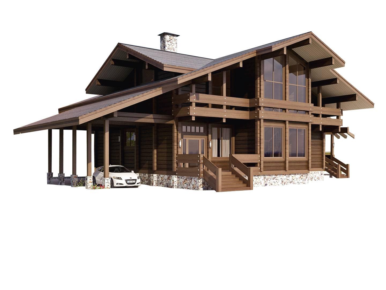 Шале комфорт - строительство комбинированного дома за 5512550руб под ключ | русский стиль