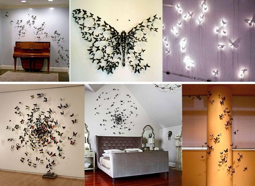 Декор стен из доступных материалов своими руками