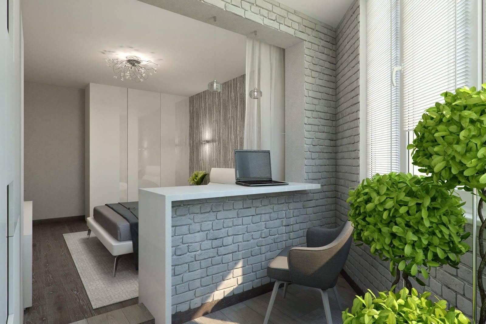 Объединение балкона с комнатой: принципы объединения помещений, фотографии дизайна