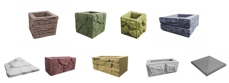 Бетонный блок для столба наборного забора