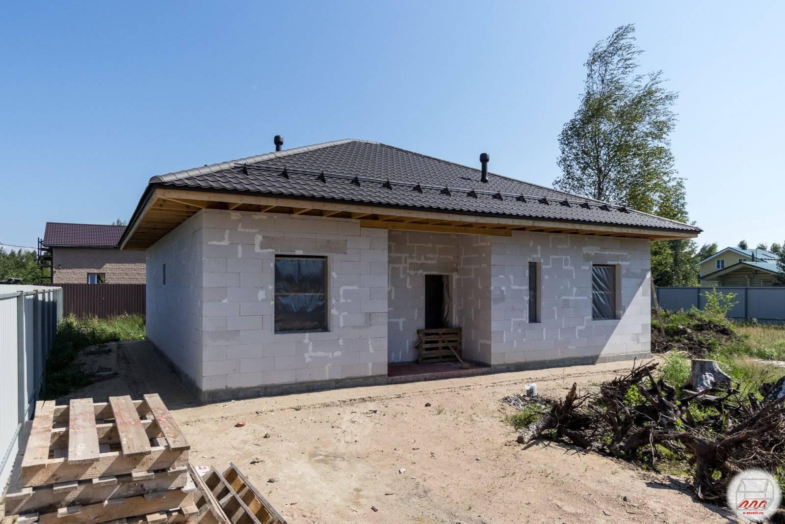 Проекты одноэтажных домов из пеноблока: выбор основных параметров дома