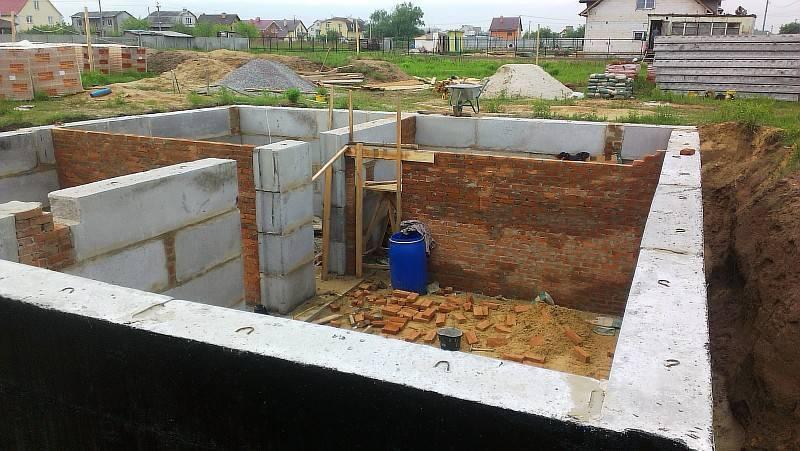 Как построить фундамент с цокольным этажом