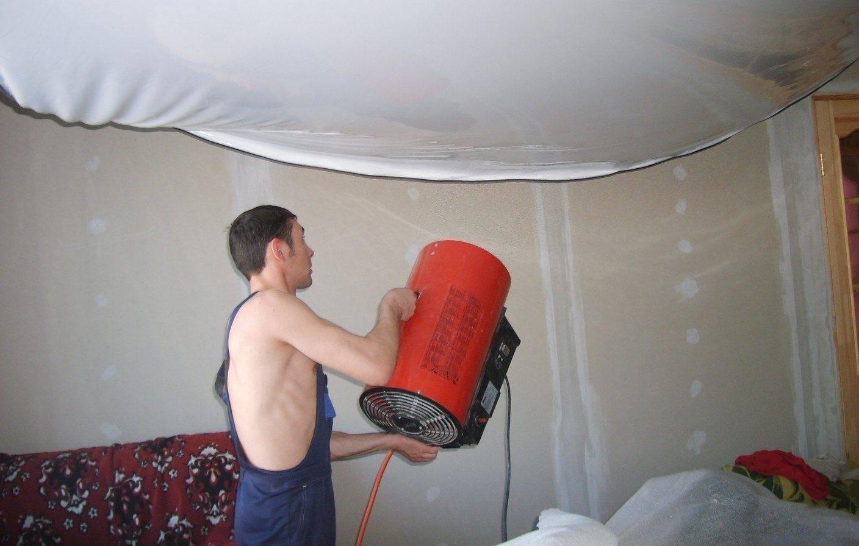 Технология монтажа натяжных потолков без нагрева