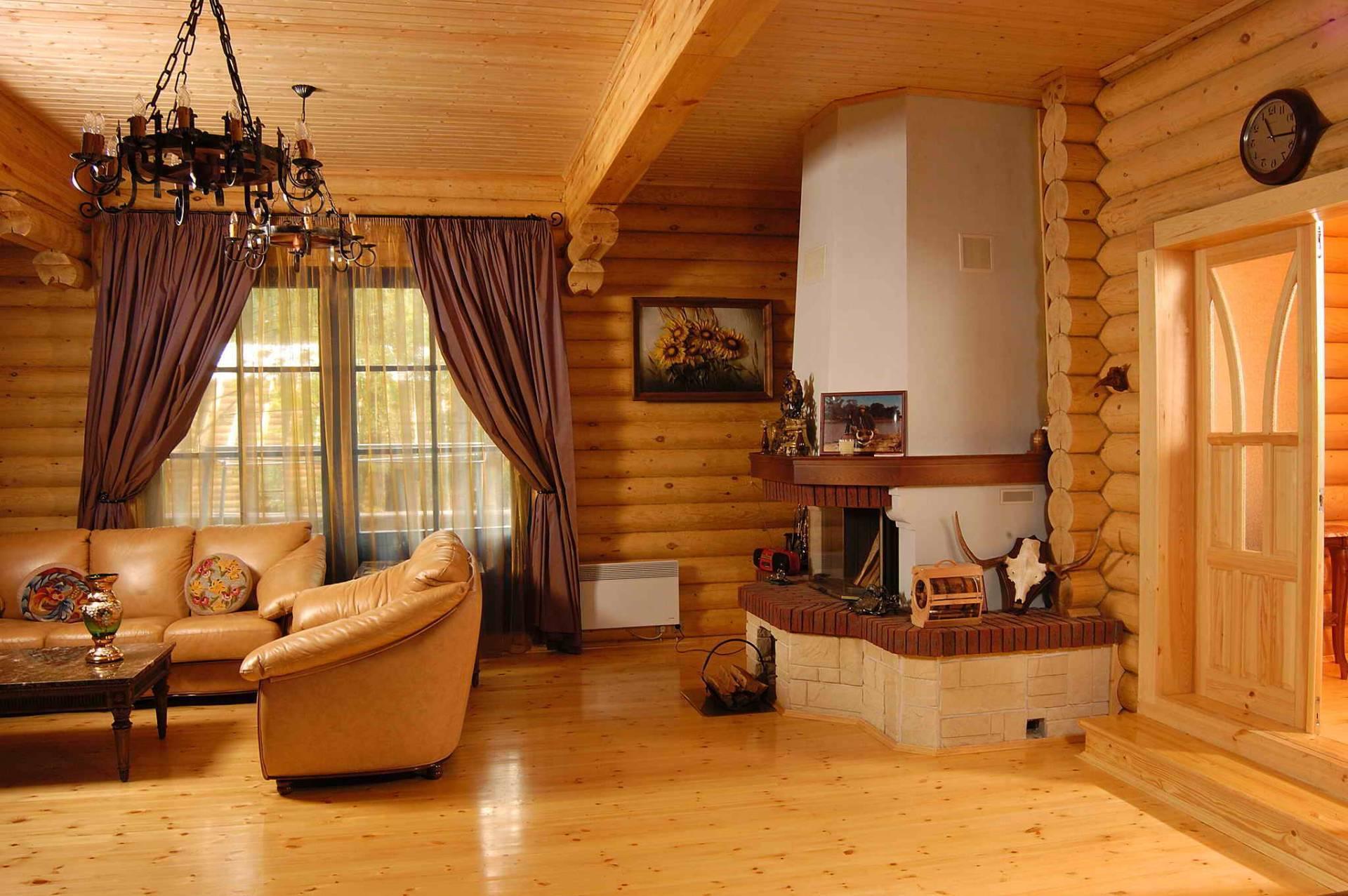 Интерьер деревянного дома: лучшие варианты современного дизайна