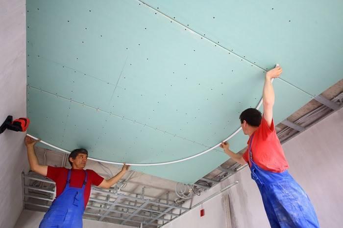 Натяжные потолки: цена за 1м2 с установкой и работой и монтаж своими руками