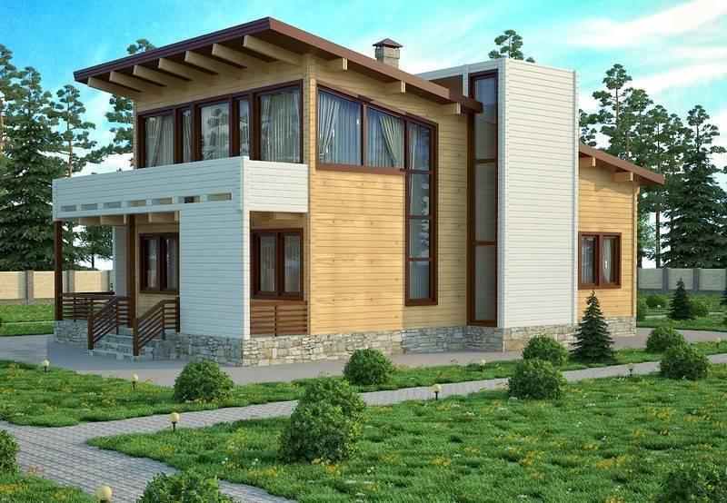 Современные деревянные дома в стиле хай тек (52 идеи)
