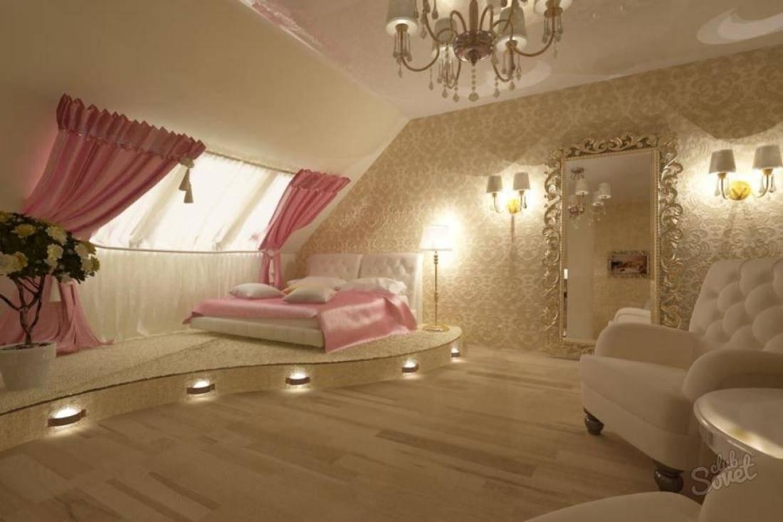 Мансарда: фото-варианты дизайна интерьера комнат