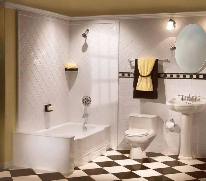 Раскладка плитки в ванной: схема, примеры и дизайн раскладки