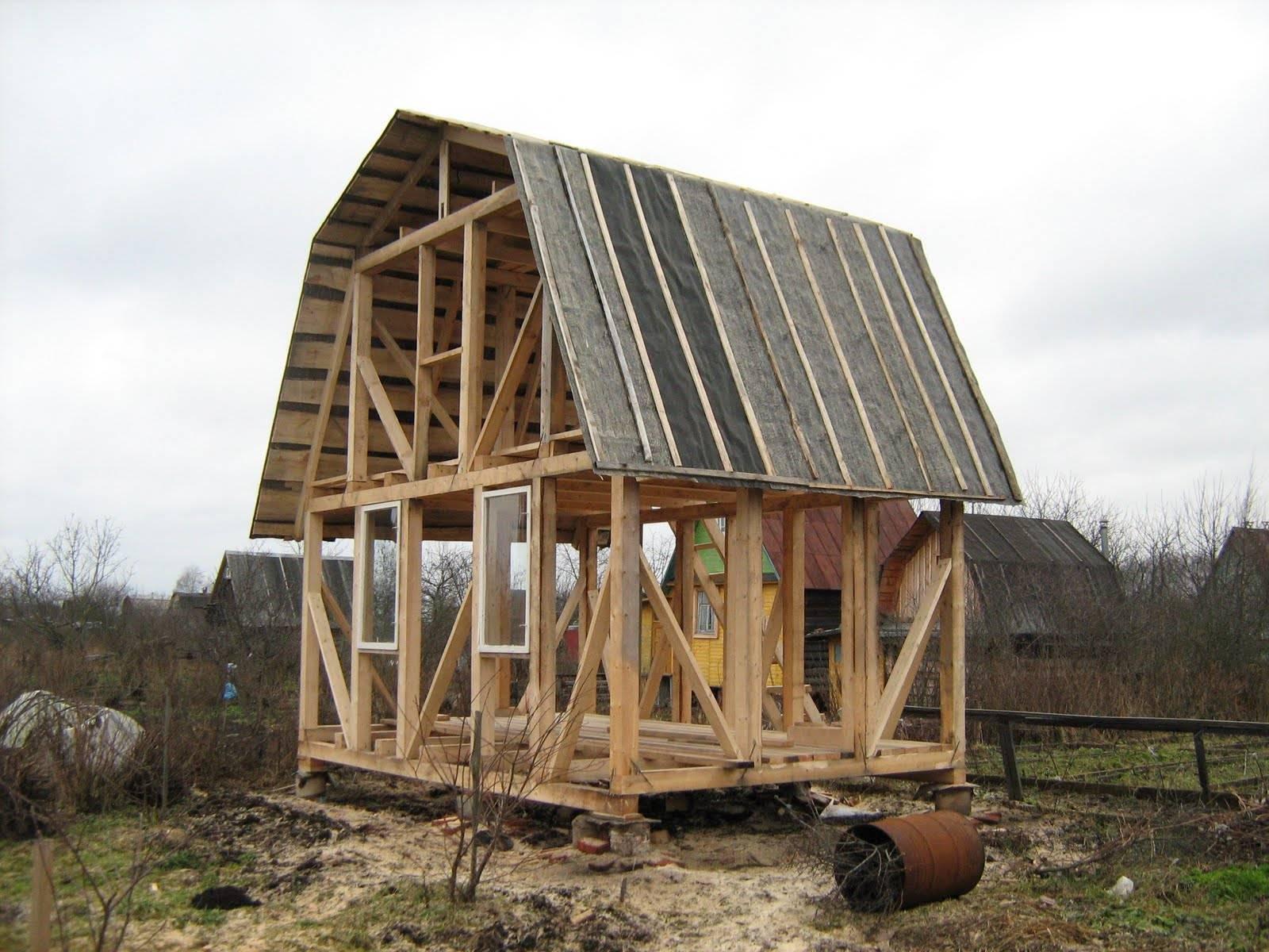 Как построить садовый домик своими руками недорого