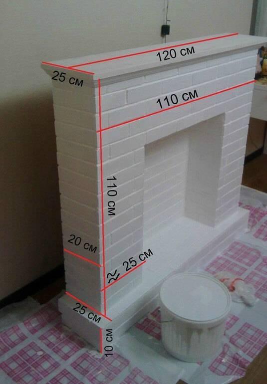 Камин своими руками из коробок: пошаговая инструкция (фото) - лучшие идеи