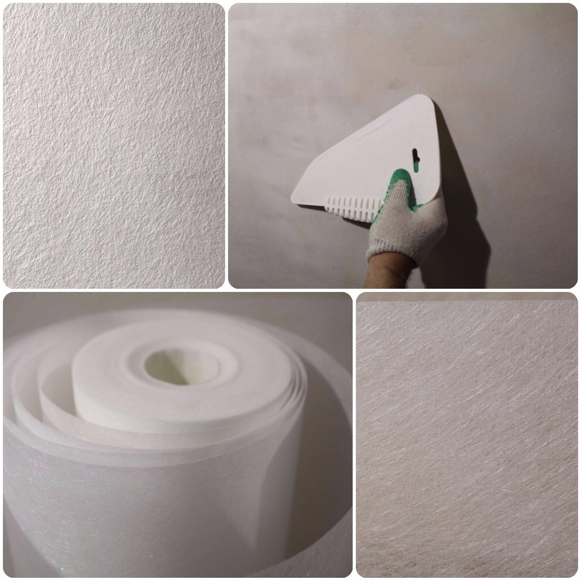 Клеим малярный стеклохолст «паутинка» под покраску для защиты от трещин