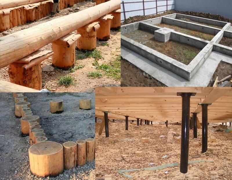 Выбираем фундамент для бани из сруба