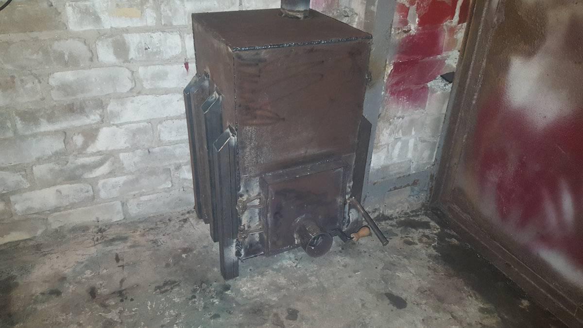 Печь для гаража на дровах: дровяная печка длительного горения своими руками, чертежи устройства отопления