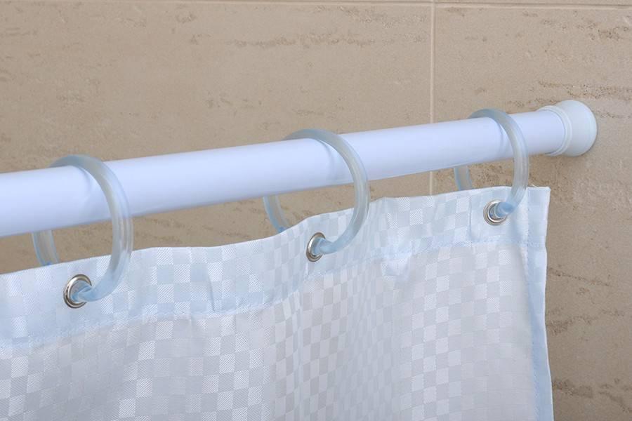 Штанга для шторы в ванной: круглая, дуговая, угловая, выбрать и правильно установить