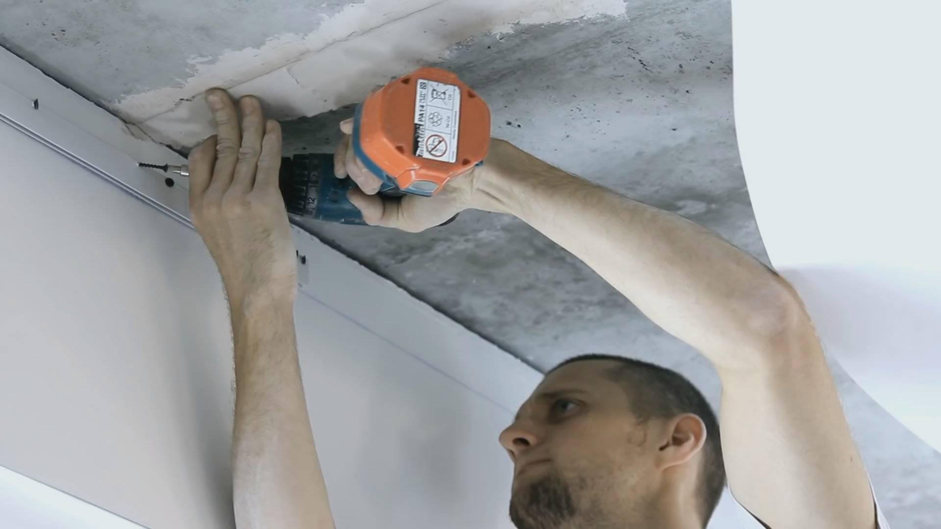 Монтаж натяжных потолков без нагрева. инструкция по установке натяжного потолка без нагреваинформационный строительный сайт |
