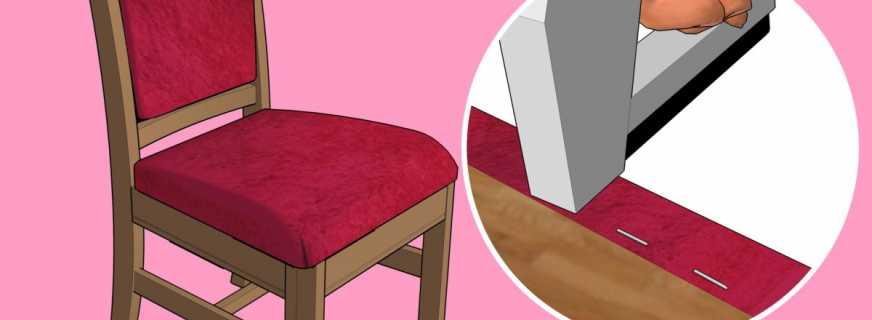 Как сделать перетяжку стульев своими руками: простые советы
