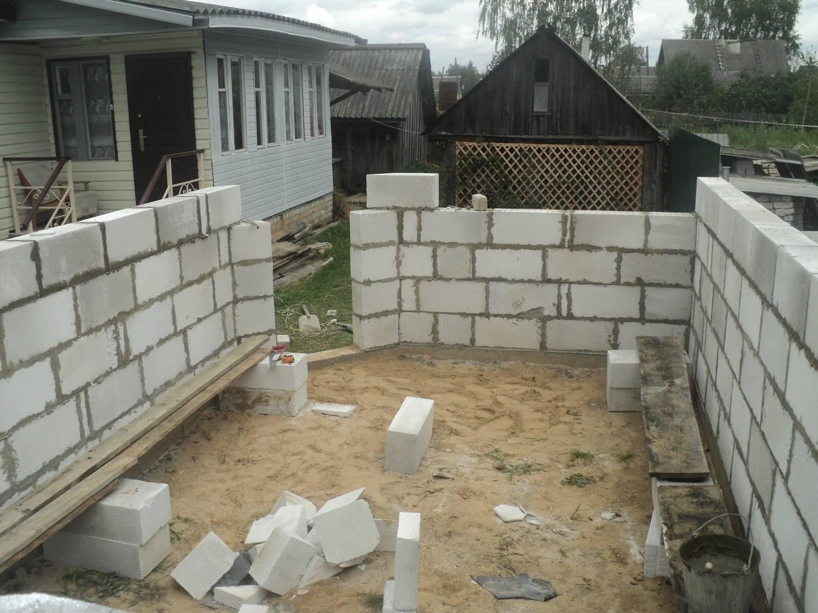 Строим гараж из пеноблока своими руками