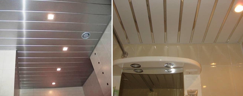 Алюминиевые реечные потолки для ванной - установка панелей и профиля (фото)