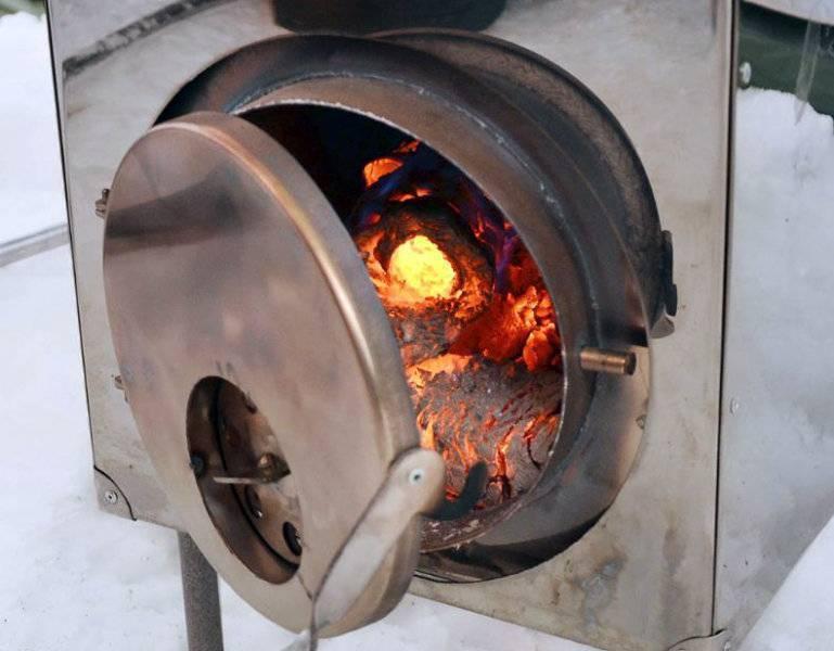Печь ракета из кирпича длительного горения своими руками