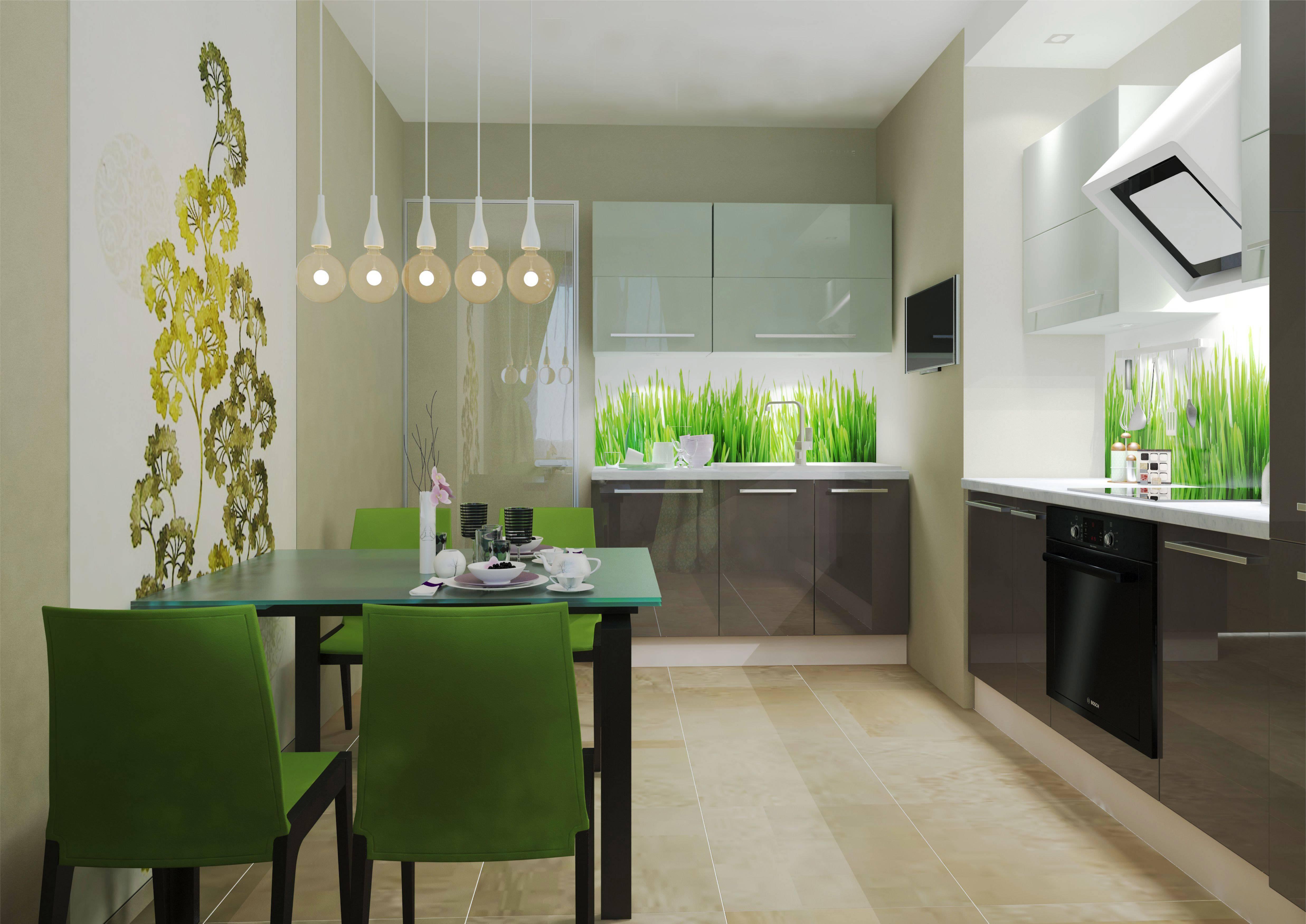 Обои зеленого цвета на стенах: естественность и природная красота снова в моде