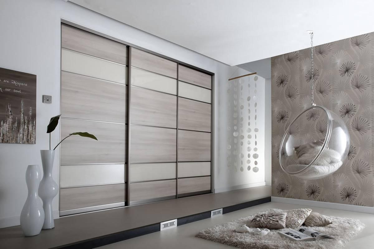 Шкафы купе в спальню, дизайн в 47 фото