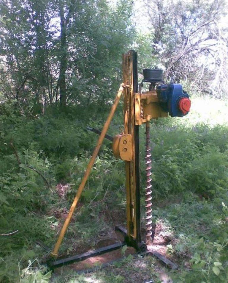 Буровая установка для бурения скважин - виды и изготовление своими руками